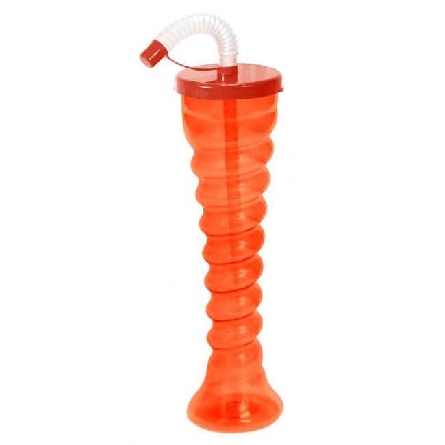 Kielich spirala pomarańczowy neon płaski dekielek 350 ml