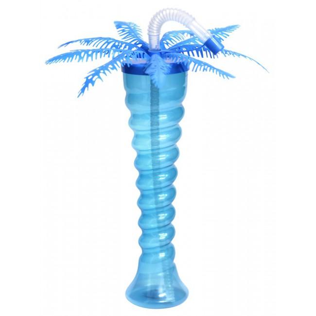Kielich spirala niebieska palma neon 350 ml