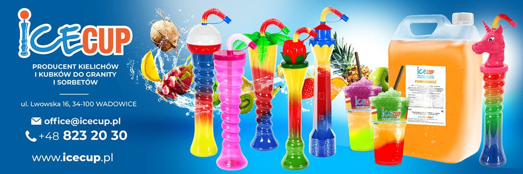 IceCup – výrobce kelímků, pohárů, sirupů na granity a sorbety